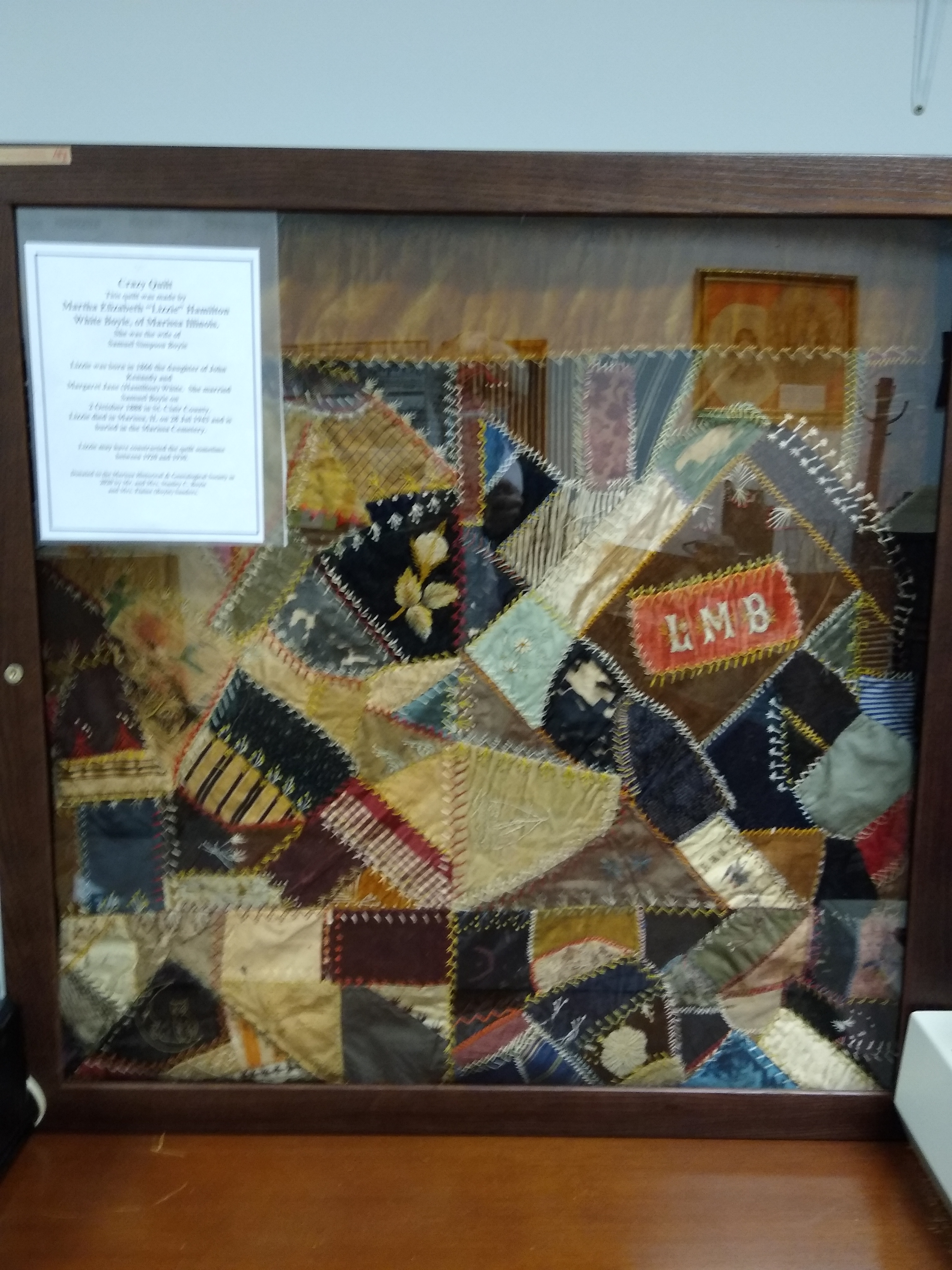 Quilt made by Lizzie Boyle circa 1920's 1930's
